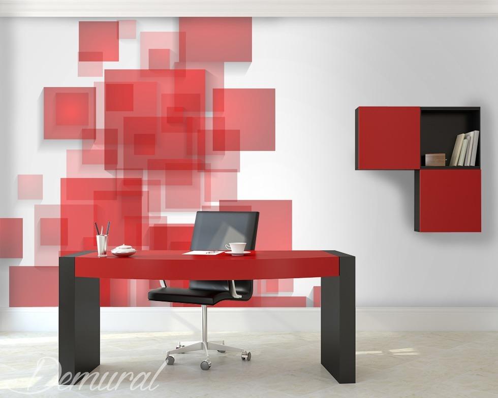 Fotomurale Caos controllato - Fotomurali rosso - Demural
