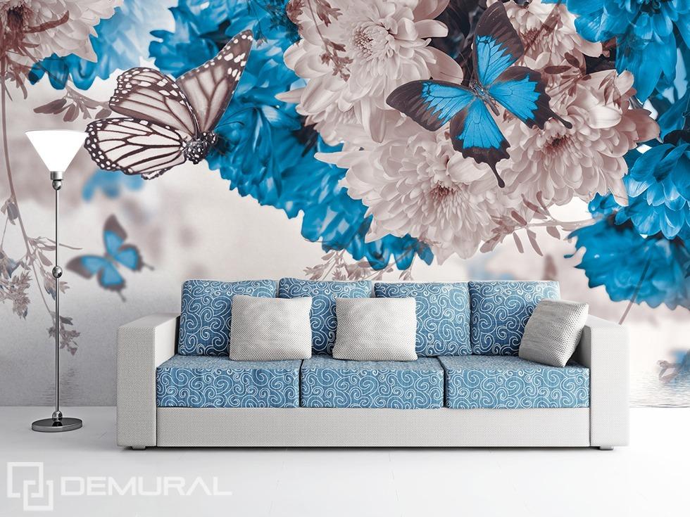 Fotomurale La natura bianco - azzurra - Fotomurali da ingrandire - Demural