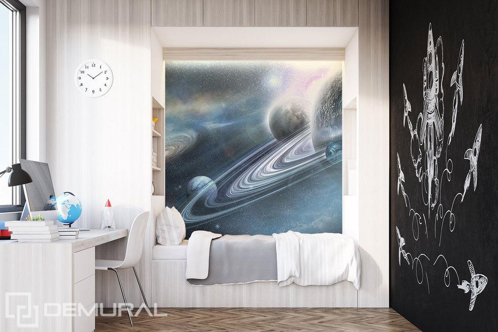 Fotomurale Nel mondo intergalattico - Piccola stanza - Demural