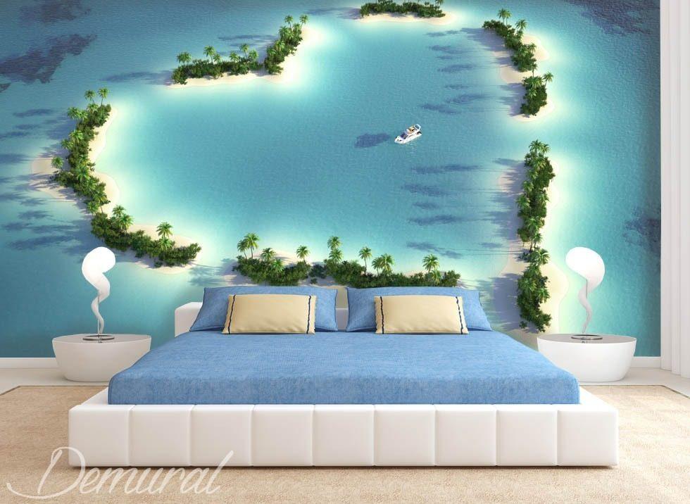 Posters Per Camera Da Letto : Stola di atollo carta da parati fotomurali camera da letto