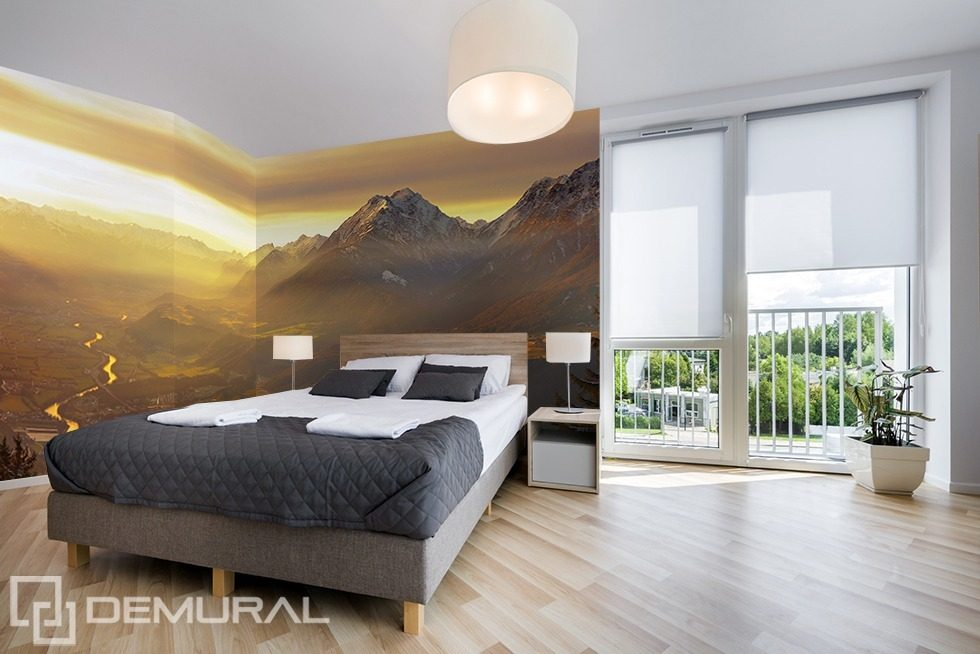Poster Murali Per Camere Da Letto : Sulla valle carta da parati fotomurali camera da letto