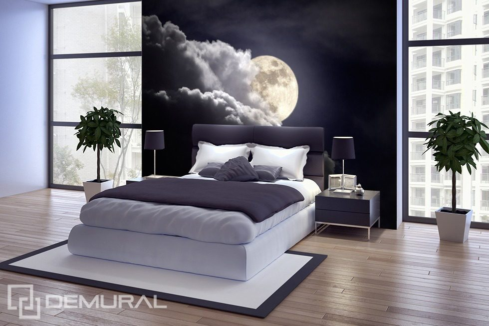 La luna di notte carta da parati fotomurali camera da letto fotomurali demural - Poster camera da letto ...