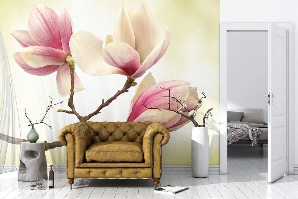 Carta Da Parati Fiori Rosa : Magnolia il livello più alto della delicatezza carta da parati