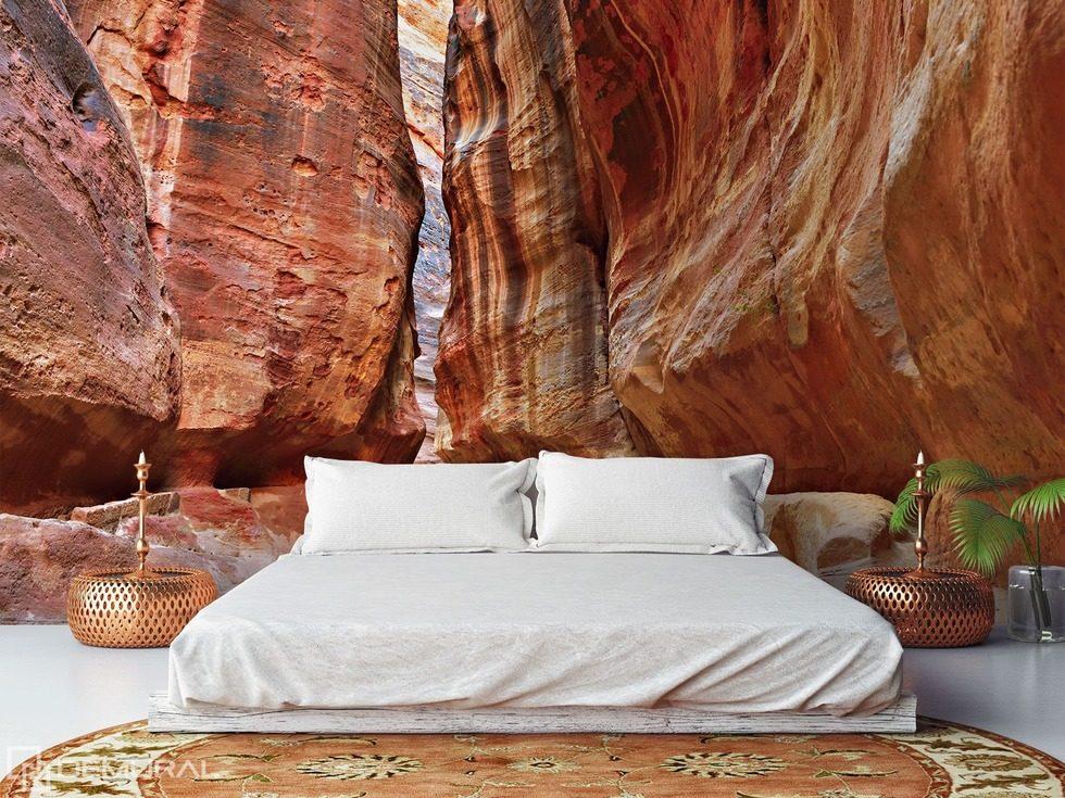 Nel sogno profondo di pietra carta da parati fotomurali camera da letto fotomurali demural - Carta da parati camera ...