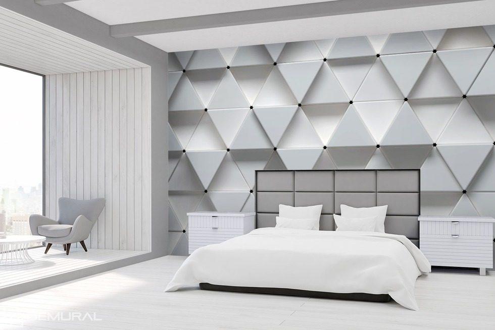 Il bianco della modernit geometrica carta da parati for Carta da parati moderna 3d