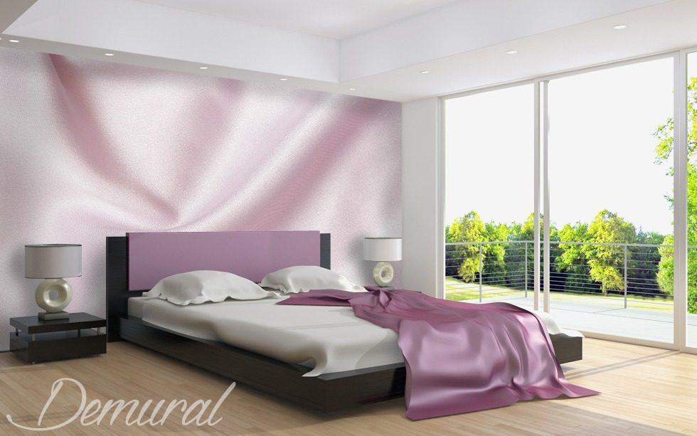 Poster Murali Per Camere Da Letto : Il raso elegante carta da parati fotomurali camera da letto