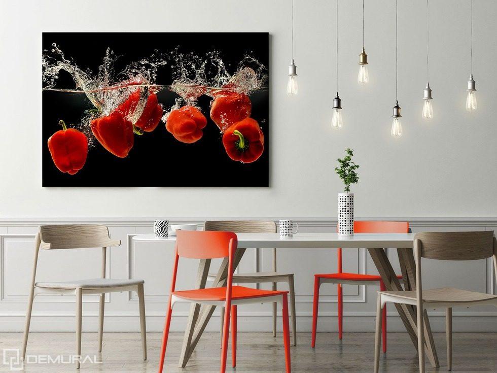 Il ballo di paprica in rosso quadri per la sala da for Cuadros en country para comedor