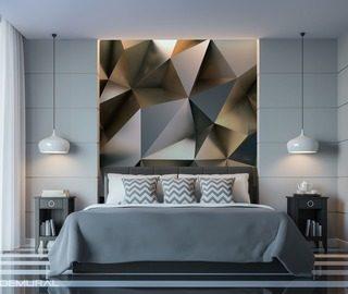 Fotomurali per camera da letto demural - Camera da letto con carta da parati ...